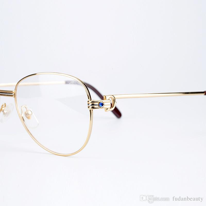 Metal Frame Optical Eyeglasses Brand Designer Prescription