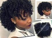 afro kinky curly weave ponytail