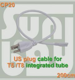 2019 t5 t8 connecting wire power cord with standard us plug for t5 t8 integrated led tubes 3 prong 200cm cable from lampbay 17 12 dhgate com [ 1000 x 1000 Pixel ]