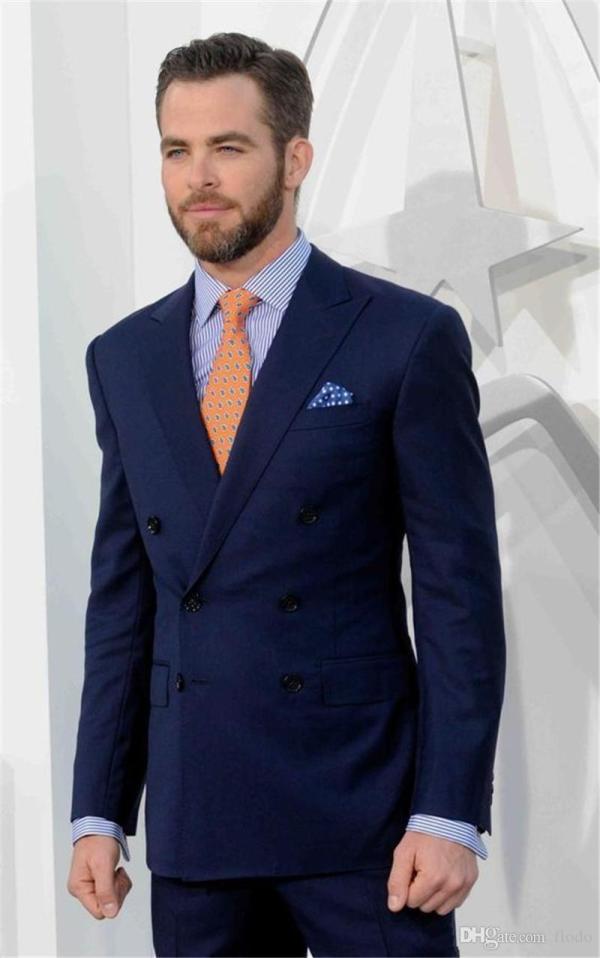Chris Pine Blue Suit