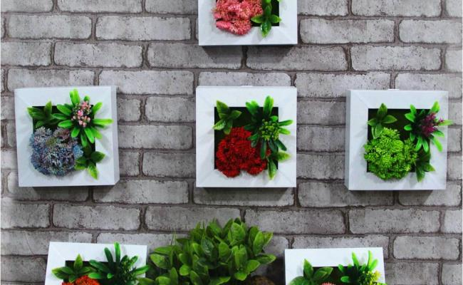 2018 3d Artificial Plant Wooden Wall Decorative Painting