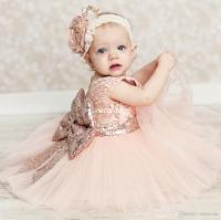 Baby Infant Toddler Birthday Party Dresses Blush Pink Rose ...