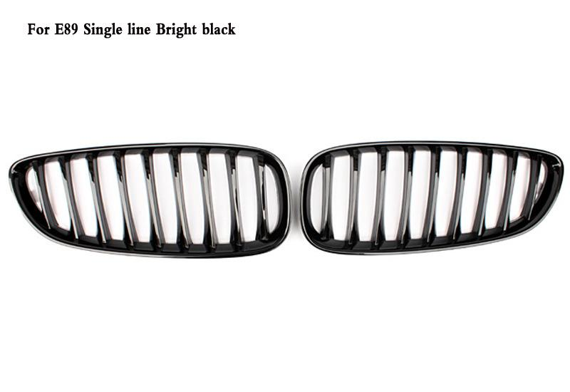 2019 Single Line Bright Black Front Kidney Grille Fit For