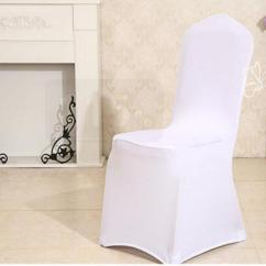 Universal Banquet Chair Covers Leather Parson Dining Chairs White Polyester Spandex Wedding Multicolor For Hotel Weddings Party Decoration Dhl Free Room