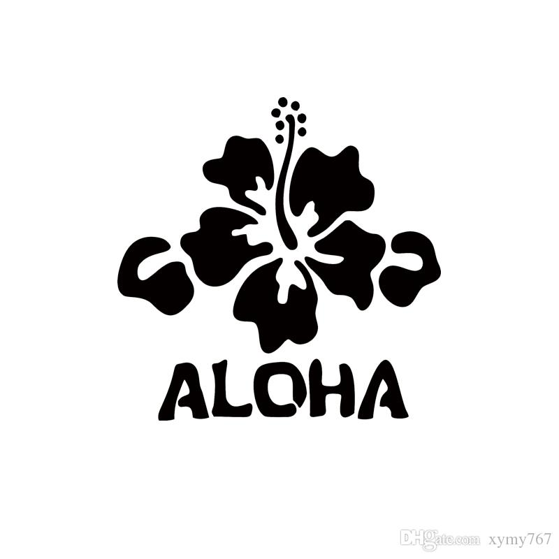 2017 2017 Hot Sale Car Stying Decal Hawaii Hibiscus Flower