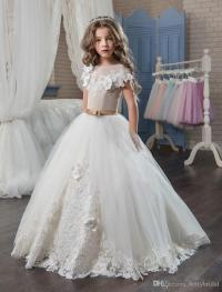 Elegant First Communion Dresses For Girls 2018 Applique