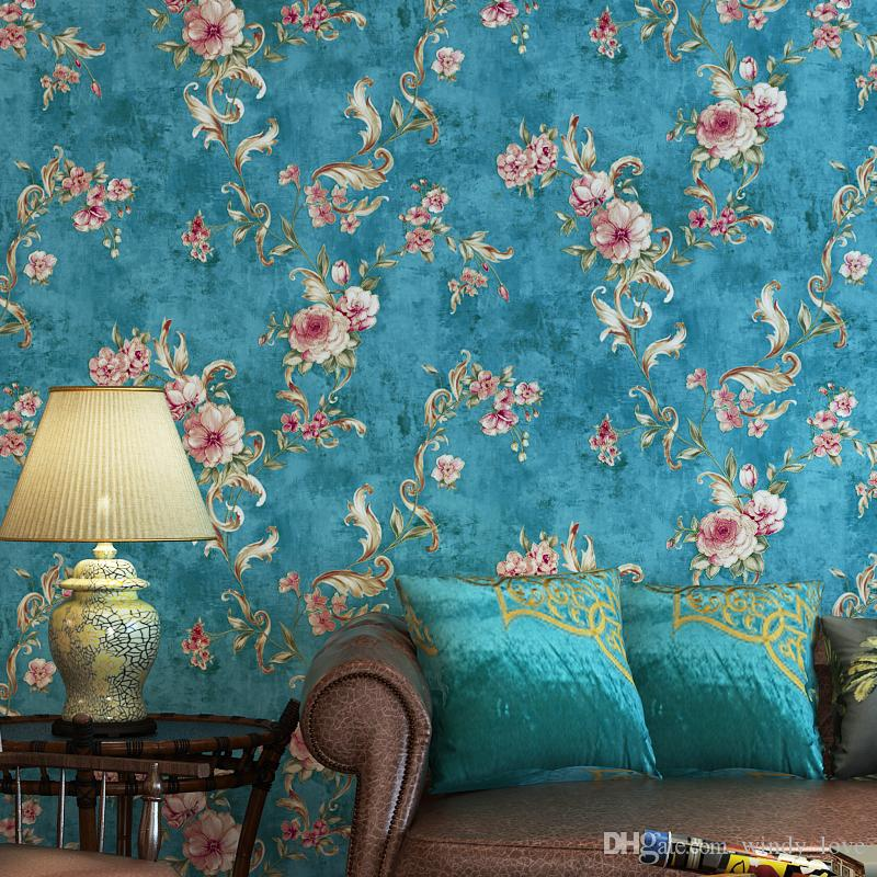 wallpaper living room wall tables walmart american floral vintage wallpapers roll rustic flower paper for walls bedroom designs backgrounds beach