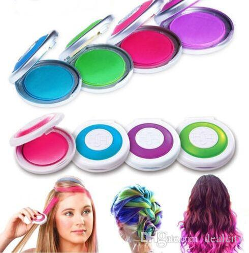 temporary hair chalk tiza del pelo hot pink blue neon green no retail box beauty hair hair