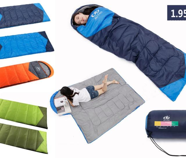 Outdoor Camping Sleeping Bag Extend Thickenkg Blanket Winter Waterproof Compression Stuff Sack Bag With Hood For Hiking Camping Lunch Break Camping