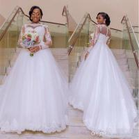 Discount African Plus Size Wedding Dresses With Sleeves