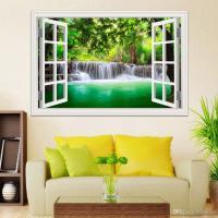 3d Window View Decals Waterfall Scenery Landscape