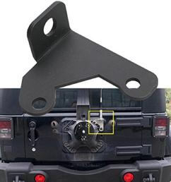 car spare tire cb antenna mount for 2007 2015 jeep wrangler jk 2 4 door truck interiors trucks interior from locy 26 13 dhgate com [ 1100 x 1100 Pixel ]