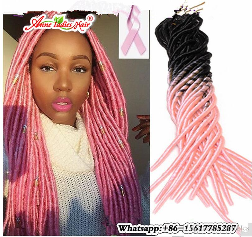 Ombre Crochet Braids Ombre Pink Afro Faux Locs Braid Hair