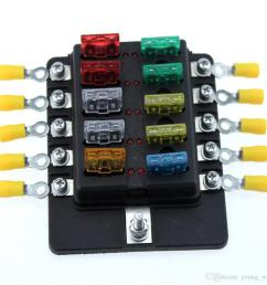 ambuker 10 way car blade fuse box truck marine boat rv led indicator marine 50 amp [ 1000 x 1000 Pixel ]
