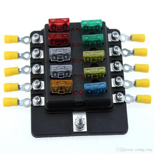 small resolution of ambuker 10 way car blade fuse box truck marine boat rv led indicator blue sea fuse