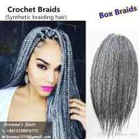 2018 3s Small Box Braid Extensions Burgundy Grey 613 ...