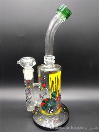 2017 Hand Blown Glass Water Pipes Glass Bong with Oil Rigs