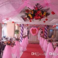 Chair Covers For Rent In Trinidad Office Glides Wedding Party Decoration Tulle Romantic Curtain Organza Voile Chiffon Background Cover Table Skirt 50cm 9m Decorations