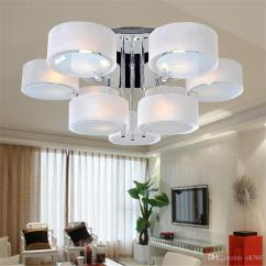 Led Ceiling Light Living Room Grey Ideas 2019 Modern Acrylic Glass 3 5 7 Head Lamp Fashion Lights Bedroom Lighting Pendant Lamps Dia53cm 65cm 85cm Downlight From Ok360