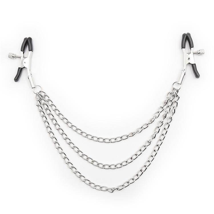Chained Nipple Clamps Tit Clips Bondage Gear Stimulation