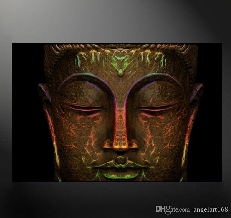 2018 Unframed Buddha Head Wall Art Oil Painting On Canvas