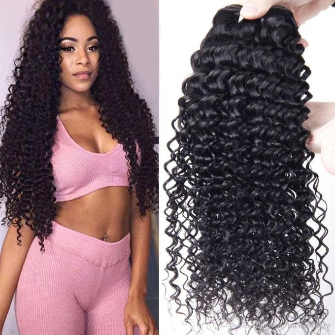 brazilian human hair curly weave 4 bundles brazilian virgin hair bundles brazilian deep wave kinky curly virgin human hair extensions