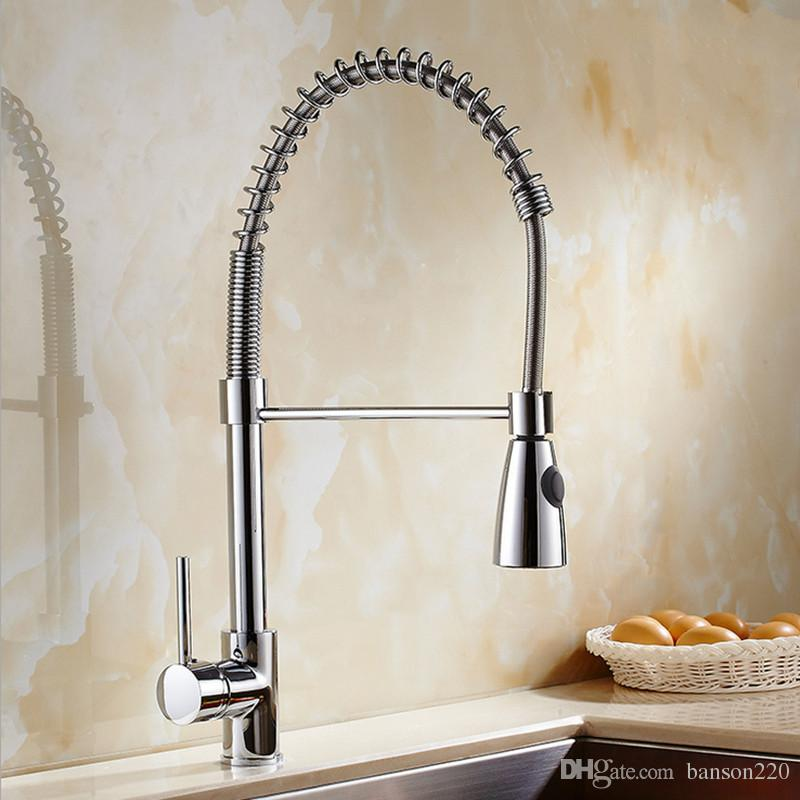 kitchen water faucet converter 2019 newly design classic pull out mixer tap with single holder sink by solid brass