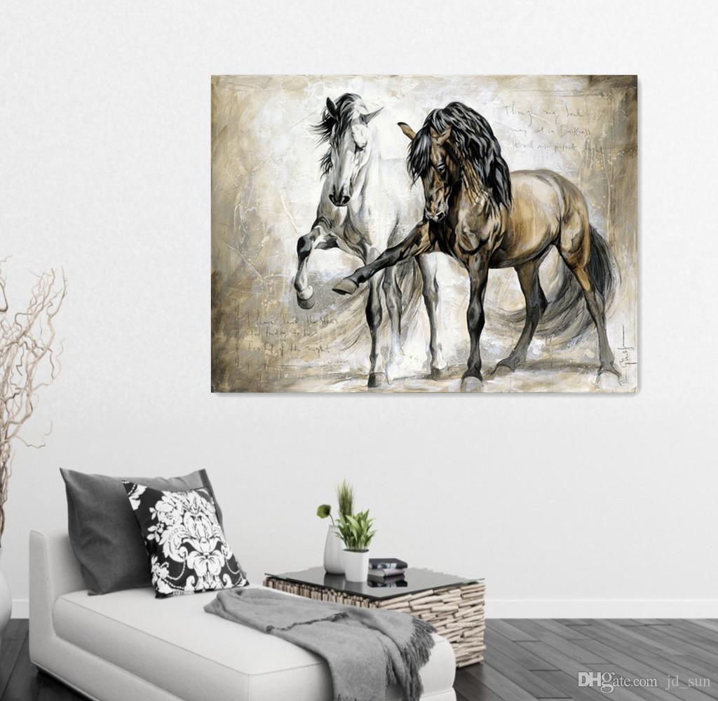 2018 Two Horse Design Retro Brown Horse Dance Original ...
