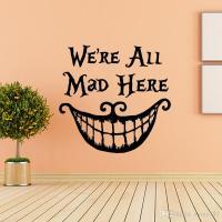 Alice In Wonderland Wall Sticker Quote Cheshire Cat ...