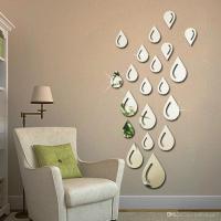 Water Drops Raindrop Shape Acrylic Mirror Wall Sticker ...