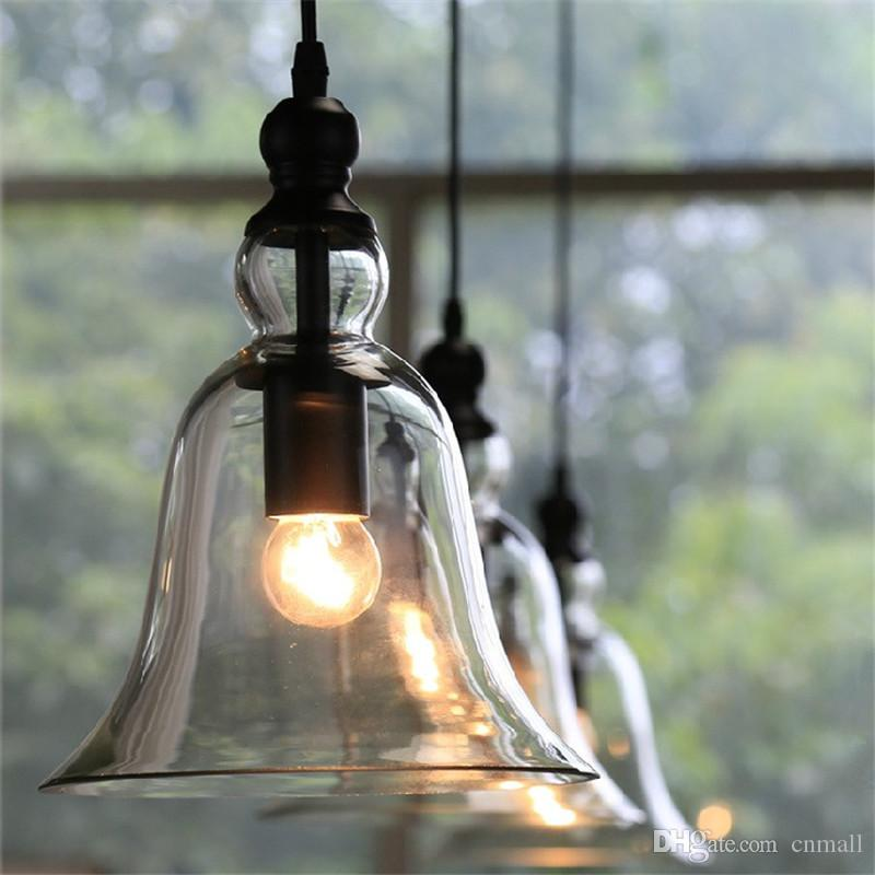 New Antique Vintage Style Glass Shade Ceiling Light Bell Pendant