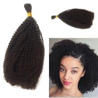 Human Braiding Hair Bulk No Attachment Peruvian Afro Kinky