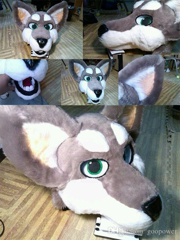 Oisk Professional Fursuit Huskies Dog Mascot Head Adult