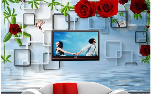 Customized Wallpaper For Walls 3d Rose Water Background