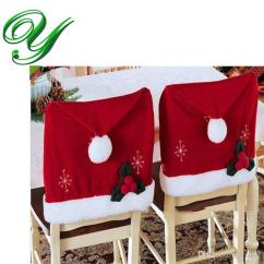 Christmas Folding Chair Covers Blue Kitchen Banquet Dining For Party Cover Decoration Red Flock 57 46cm Holiday Xmas Ornament Santa Claus All Decorations