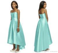 Mint Green 2018 Junior Bridesmaid Dresses Strapless ...