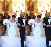 2017 Kim Kardashian Mermaid Wedding Dresses Off Shoulder ...
