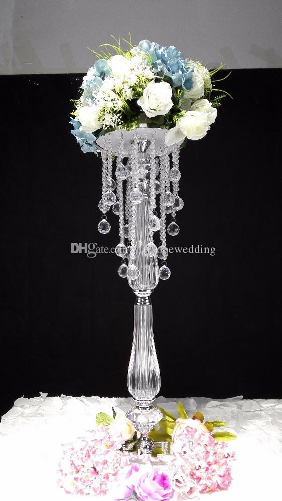 Newest Product  Tall Acrylic Flower Stands Wedding Floor Stand Centerpieces For Weddings
