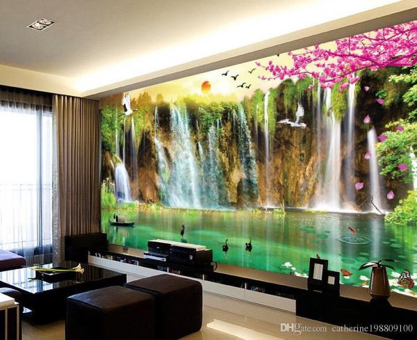 Custom Size Scenery Wallpaper Tv Wall Mural 3d