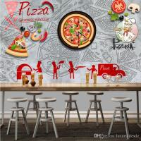 3d Stereo Pizza Shop Tooling Background Wall Decoration ...
