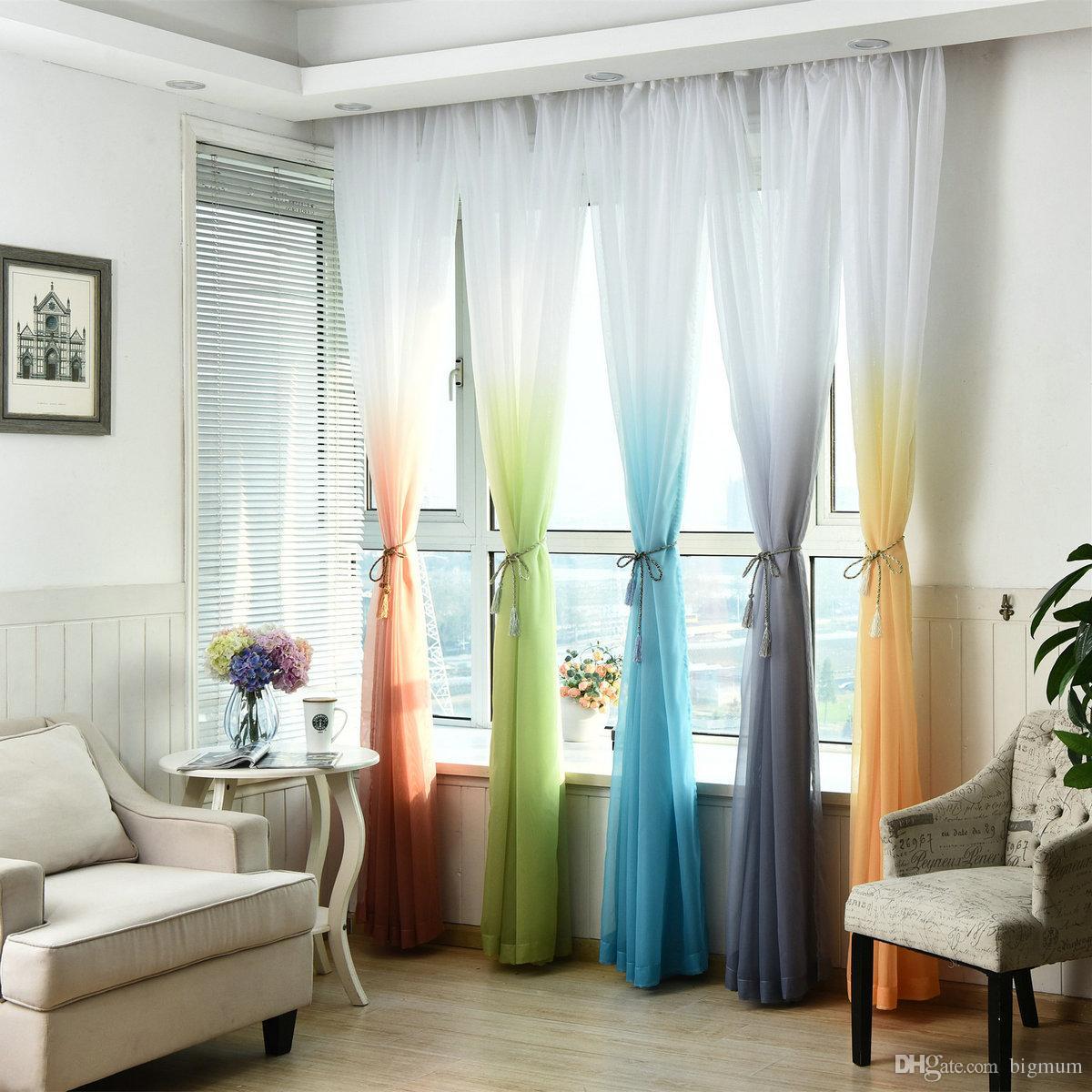 acheter sheer tulle rideau de fenetre pour salon cuisine moderne modele voil avec couleur lumineuse pour decoration de fenetre style minimaliste de