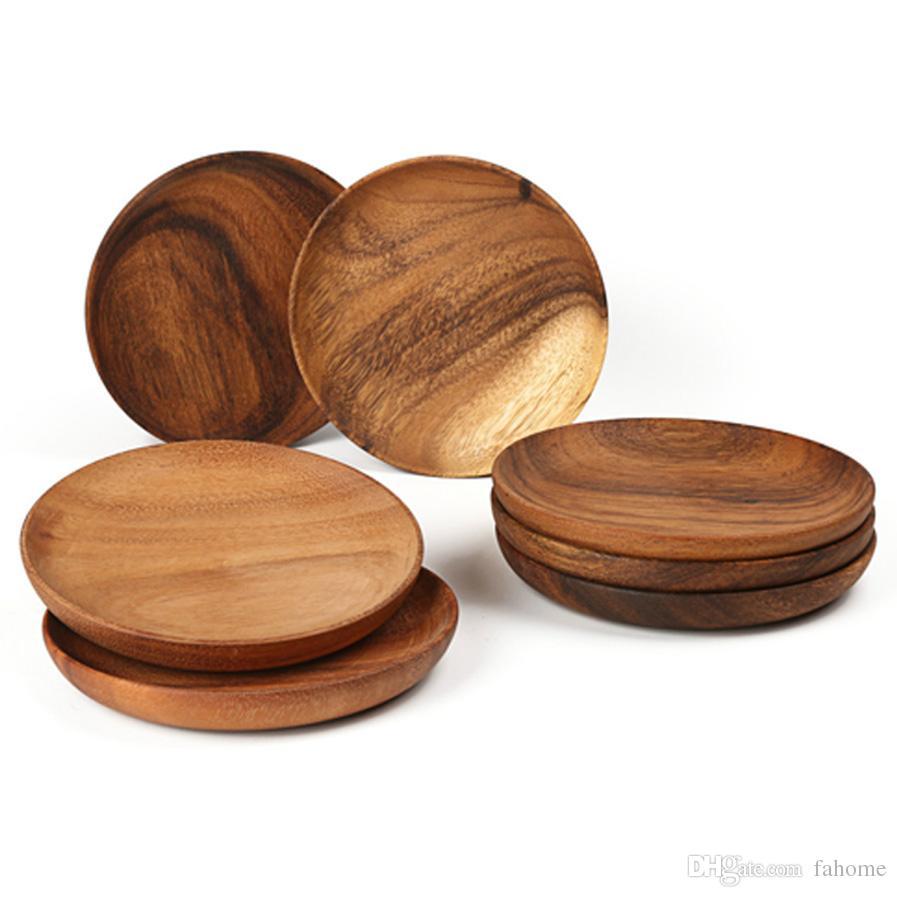 natural wood sushi platter