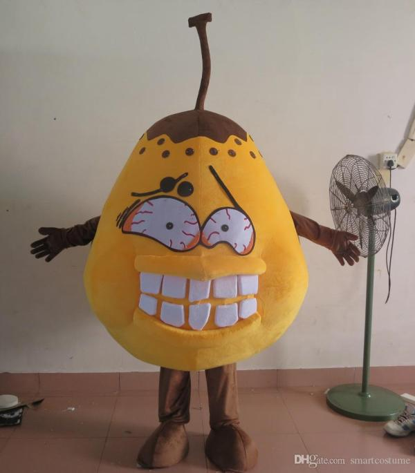 Real Of Bad Pear Costume Germs Bacteria Mascot