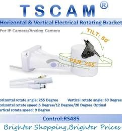 2019 tscam new outdoor cctv bracket ptz electrical rotating rs485 connection pan tilt rotation motor built in for ip camera mount accessories from  [ 1001 x 1001 Pixel ]
