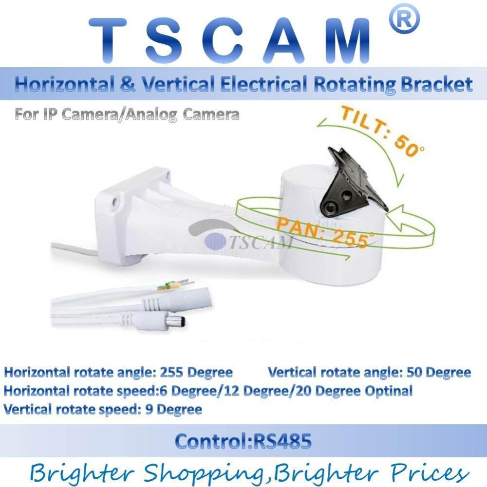 medium resolution of 2019 tscam new outdoor cctv bracket ptz electrical rotating rs485 connection pan tilt rotation motor built in for ip camera mount accessories from