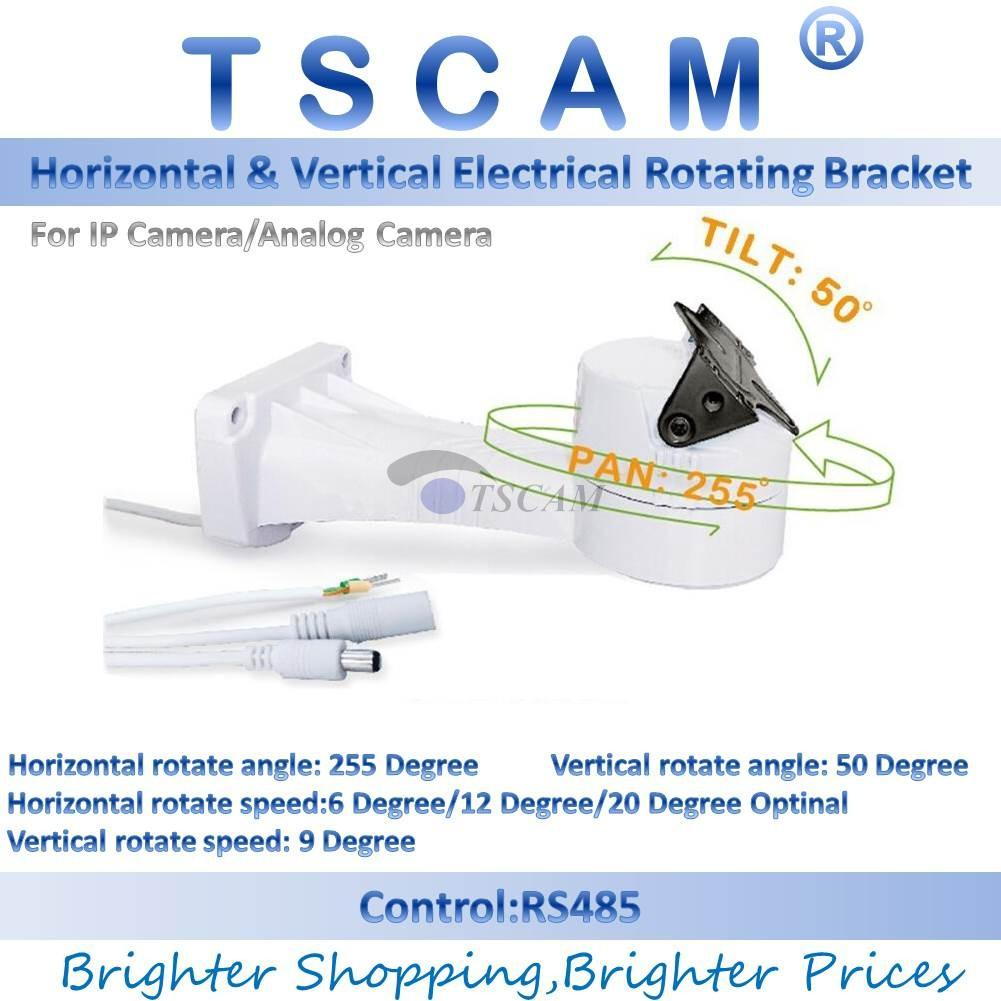 hight resolution of 2019 tscam new outdoor cctv bracket ptz electrical rotating rs485 connection pan tilt rotation motor built in for ip camera mount accessories from