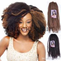 2019 18Inch Synthetic Marley Braids Hair Cheap Fluffy ...
