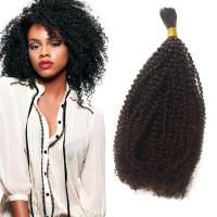 Afro Kinky Curly Human Braiding Hair For Black Women ...