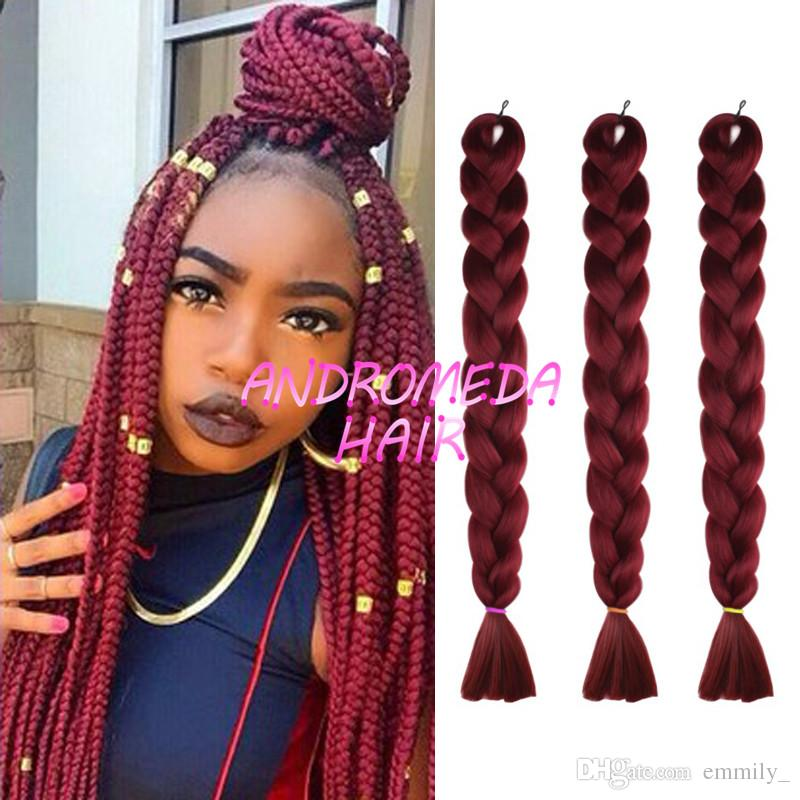 Online Cheap Xpression Synthetic Braiding Hair 24inch