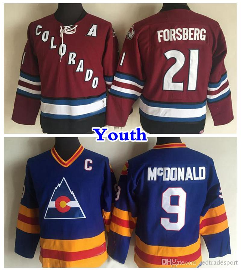Peter Forsberg Colorado Avalanche Jersey